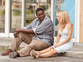 Quinton Aaron in a scene from The Blind Side