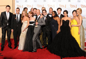 Glee at the Golden Globes