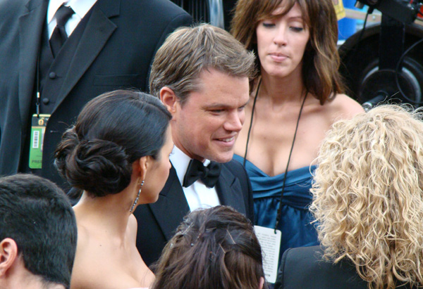 Best Supporting Actor nominee Matt Damon