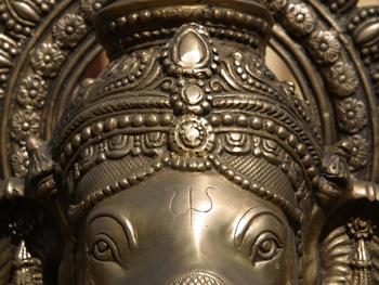 Exotic metal elephant sculpture