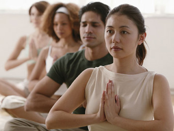 People practicing meditation