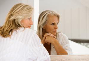 Reflecting woman