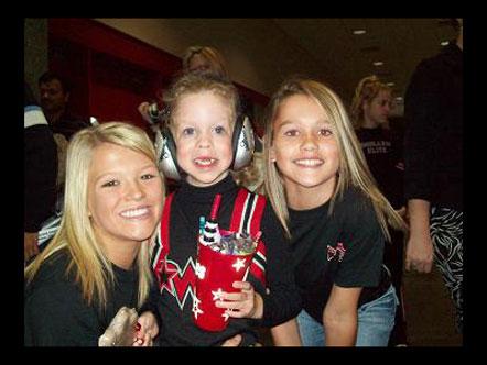 Happy cheerleaders