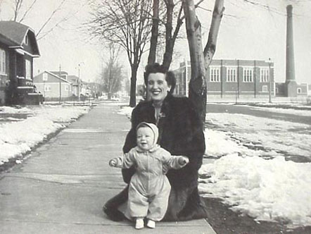 William K. with his mother