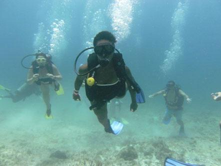 Michelle C. scuba diving