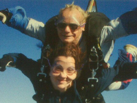 Amy C. skydiving