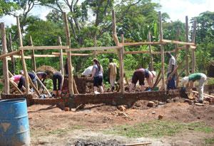 Building a birthing center in Uganda.