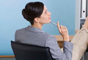 Woman taking a break from work