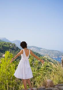 Woman enjoying a beautiful view
