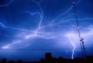 Lightening and powerlines