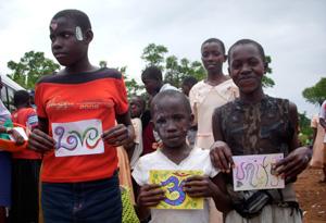 Children in Uganda.