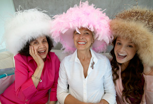 Women in fun hats