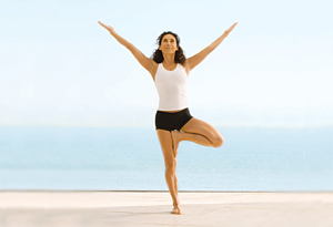 Mandy Ingber's tree pose