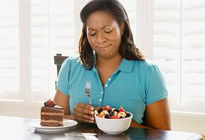 Woman torn between opposite food desires
