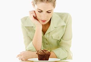 Woman craving sugar