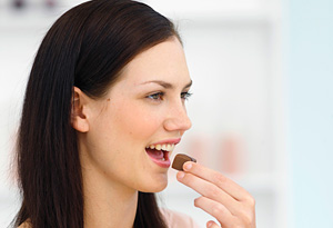 Woman wanting chocolate