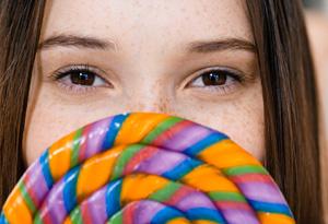 Teen with lollipop