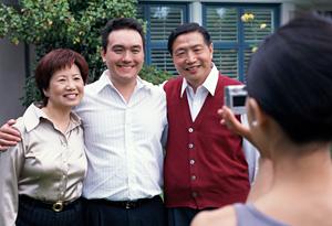 Family taking photo