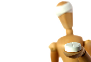 Mannequin with pill