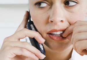 Woman dealing with anxiety