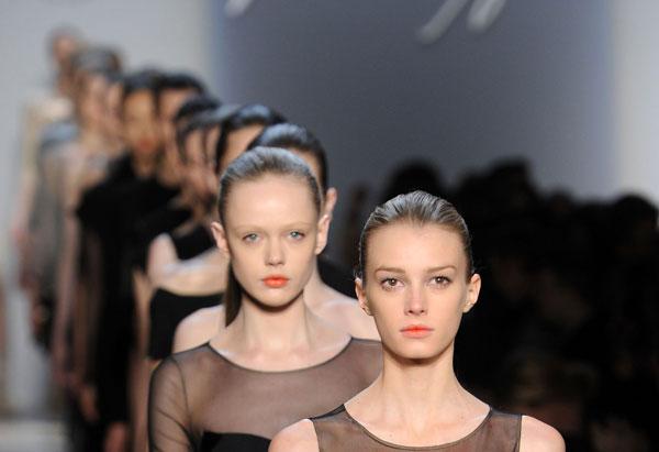 Maz Azria New York Fashion Week runway.