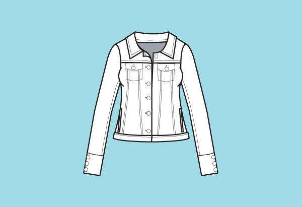Denim-style jacket