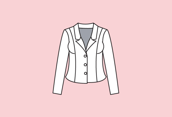 High-stance blazer