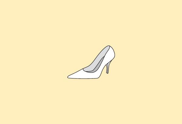 Pointy-toed heel