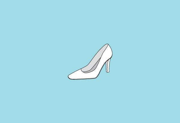 Square-toed heel