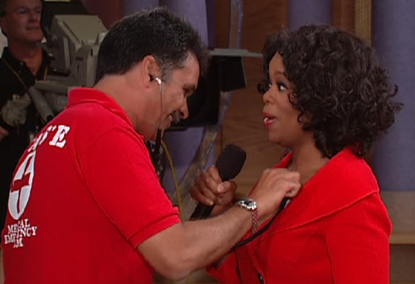 Oprah gets heart checked by EMTs for excitement