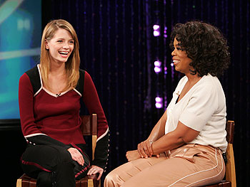 Actress Mischa Barton and Oprah