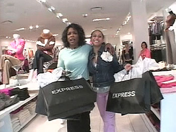 Alex and Oprah go on a shopping spree at Express