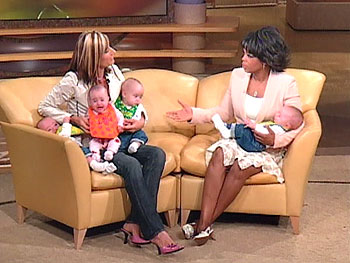 Beth Goodman and Oprah with the quads