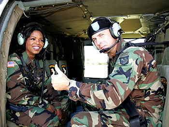 Oprah gets the thumbs up from Colonel Joseph Anderson