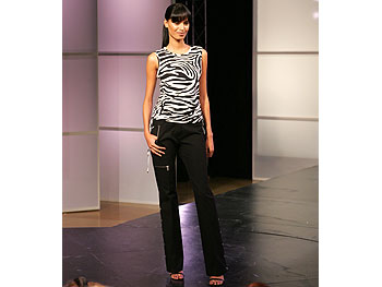MICHAEL Michael Kors zebra top and black zipper pants