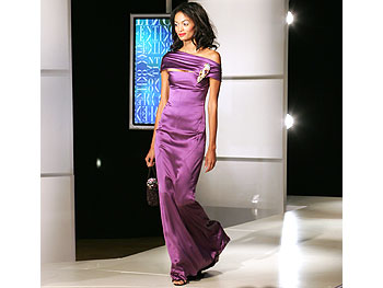 Purple satin dress from Valentino's Main Line.