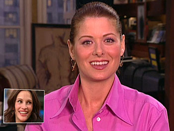 Debra Messing advices mom-to-be Julia Roberts
