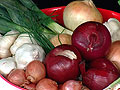Superfoods, garlic, acai, beets, onions