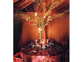 An autumnal table setting
