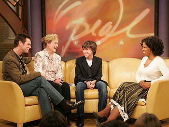 Jim Carrey, Meryl Streep, Liam Aiken and Oprah