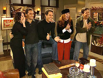 Paolo and the cast of 'Will & Grace'
