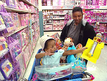 A Toys'R'Us shopping spree
