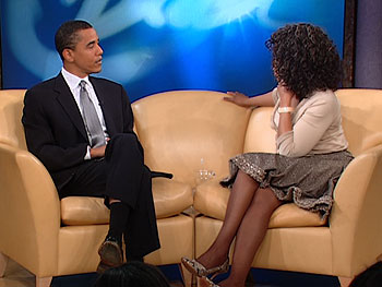 Barack Obama and Oprah