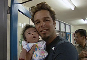 Ricky Martin and Little Wave