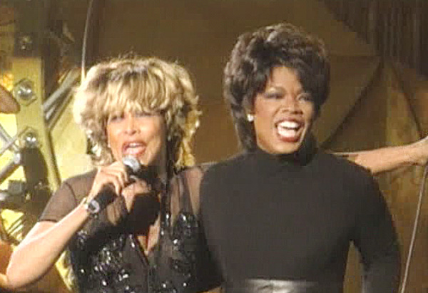 Oprah and Tina Turner