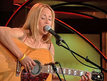 Sheryl Crow performs 'I Know Why.'