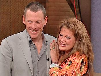 Lance Armstrong surprises Andree, a cancer survivor.
