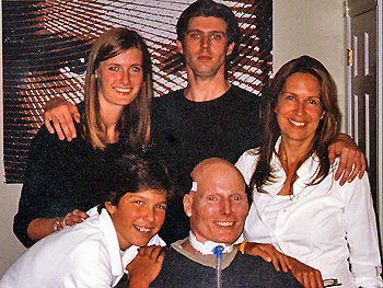 Christopher Reeve and his family