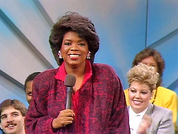 The first national broadcast of 'The Oprah Winfrey Show,' 1986