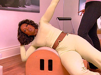 Oprah working out, 2005
